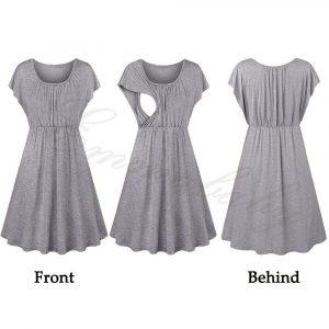 שמלה פרחוני הנקה מהירה