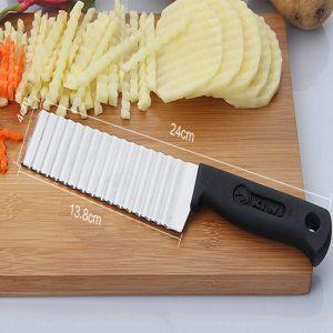 """סכין לחיתוך תפו""""א נירוסטה"""