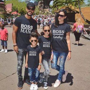 סט חולצה משפחתית בוס