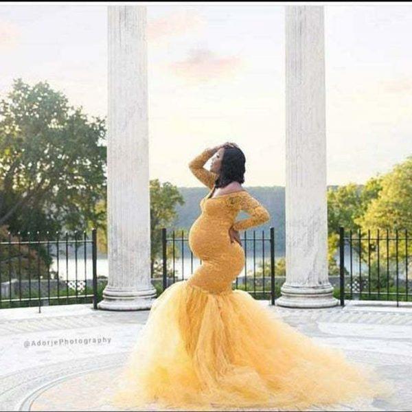 שמלת הריון ארוכה צילומים ועוד