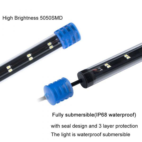 """24-54 ס""""מ לאקווריום טבולה מתחת למים LED תאורה"""