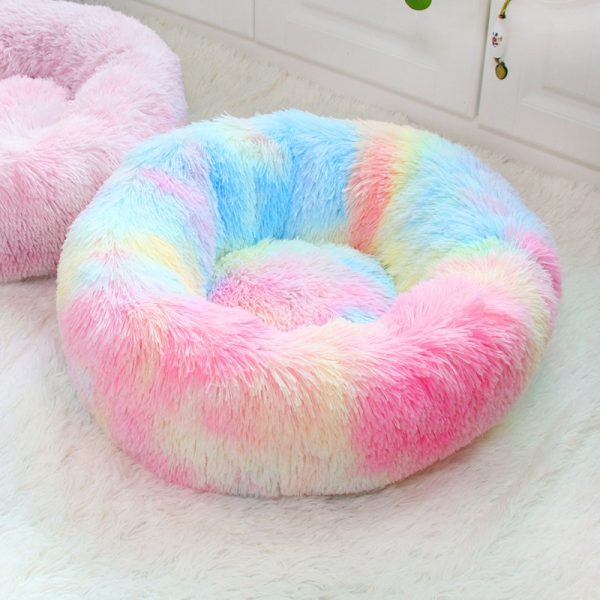 מיטה עגולה קטיפתית מפנקת