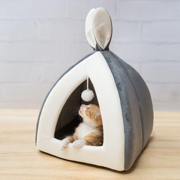 בית חם קטן לחתולים כלבים
