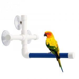 מתלה ואקום לקיר אמבטיה למקלחת תוכים