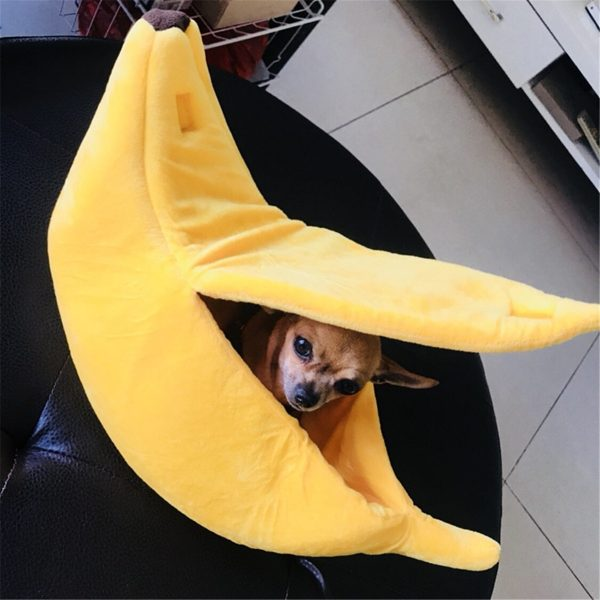בית מיטה מדליקה לחתולים כלבים קטנים בננה