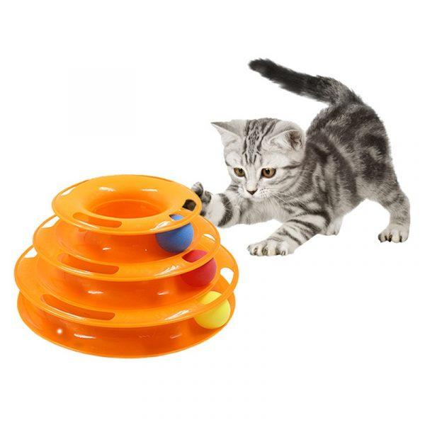 משחק כדורים לחתולים צלחות