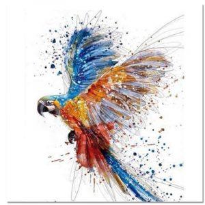 תמונת אומנות תוכי אקזוטי