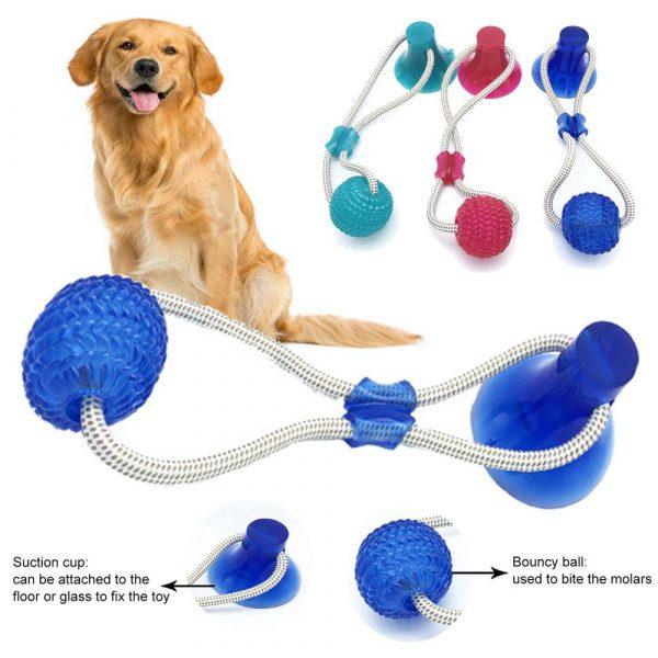 משחק מדליק לכלבים וואקום לרצפה ומנקה שיניים 2
