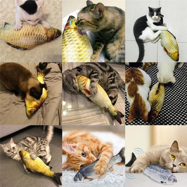 משחק לחתולים דג נע נטען