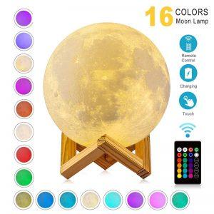 מנורת לילה ירח נטענת מס צבעים