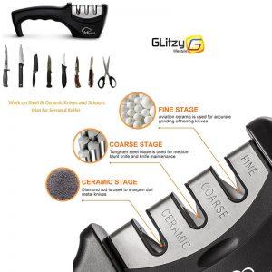 מחדד משחיז סכינים הנמכר ביותר ב 3 צעדים