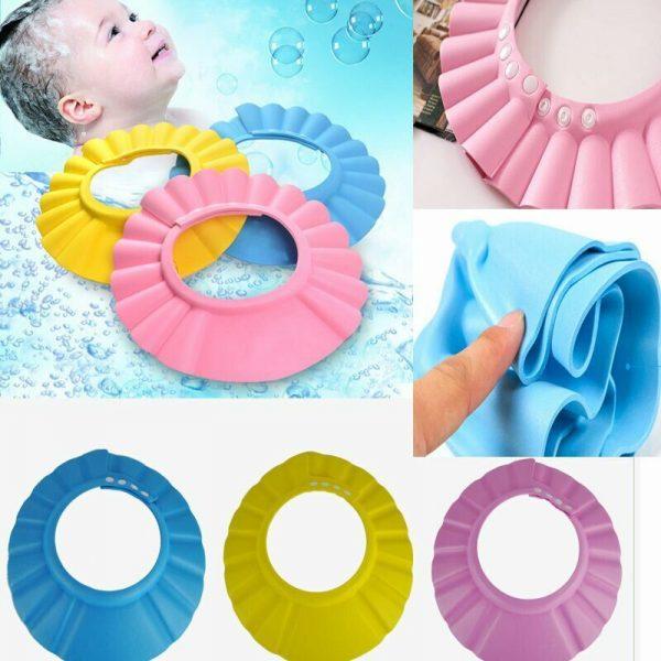 כובע מגן מקלחת מסבון חפיפה ומים לתינוקי